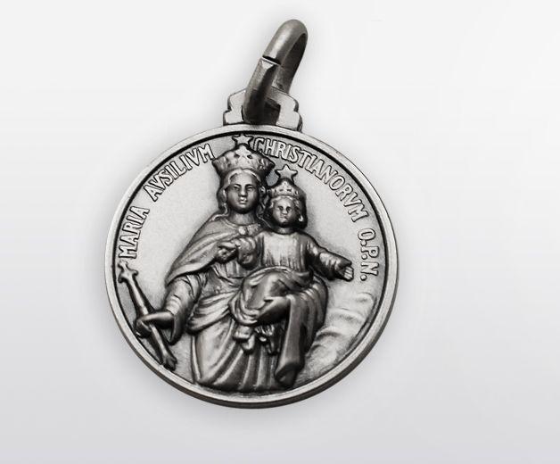 Médaille Marie Auxiliatrice argent 18mm