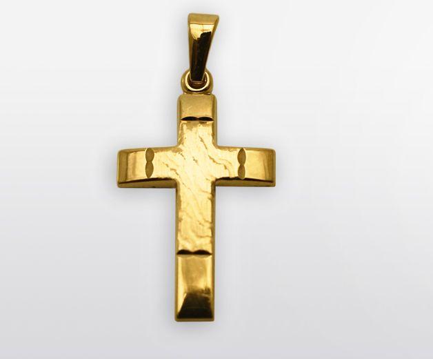 Croix chrétienne sablée 18c