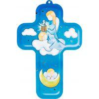 Croix pour enfant avec ange et prière
