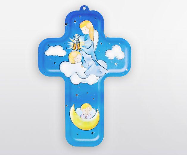 Croix pour enfant avec ange