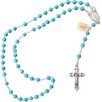 Grand chapelet Rosary turquoise