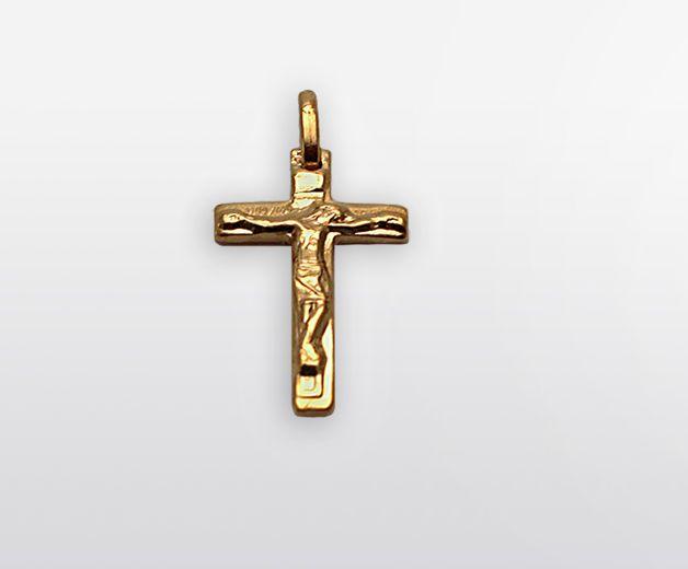Petite croix plaquée or 18c