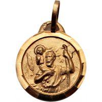 Médaille religieuse Christ plaquée or 15mm