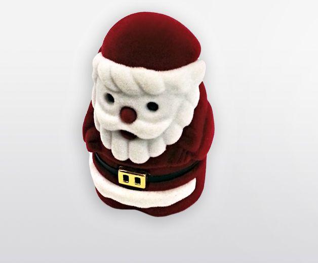 Petite crèche avec coffret Père Noël en velour