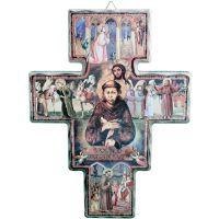 Crucifix en bois Saint François