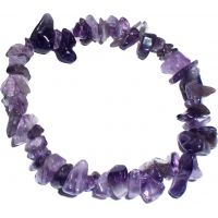Bracelet améthyste / Pierre minérale violette