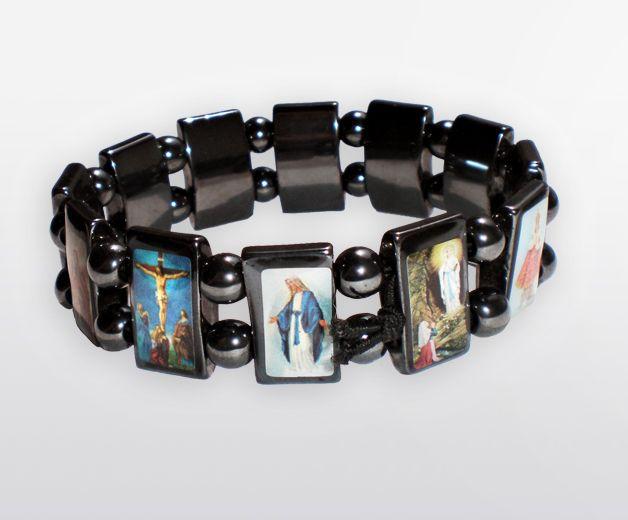 Bracelet des saintes icônes - Pierre d'Hématite
