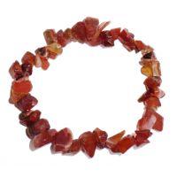 Bracelet pierres de Cornaline - Minéral rouge orangé