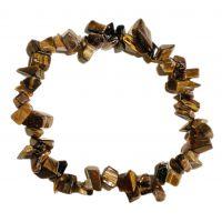 Bracelet pierres oeil de Tigre - Minéral tigré marron
