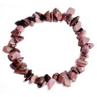 Bracelet pierres de Rhodonite - Minéral marron rosé