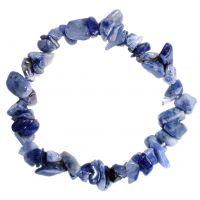 Bracelet pierres de Sodalite - Minéral bleu gris