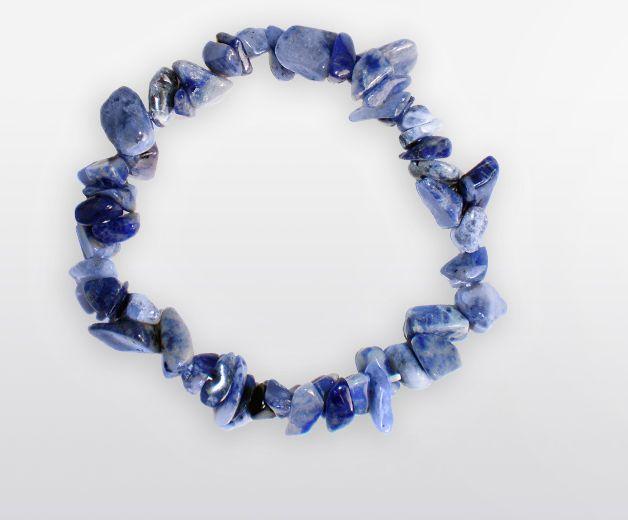 Bracelet pierre de Sodalite - Minéral bleu gris