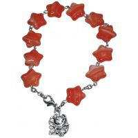 Bracelet 11 étoiles avec pendentif Rose Mystique