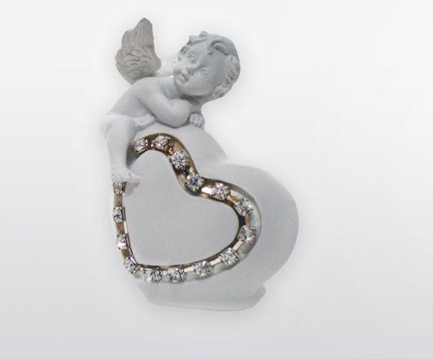Bibelot d'amour - Ange avec coeur