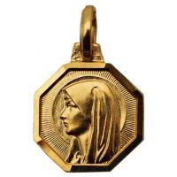 Médaille Vierge Marie plaquée or