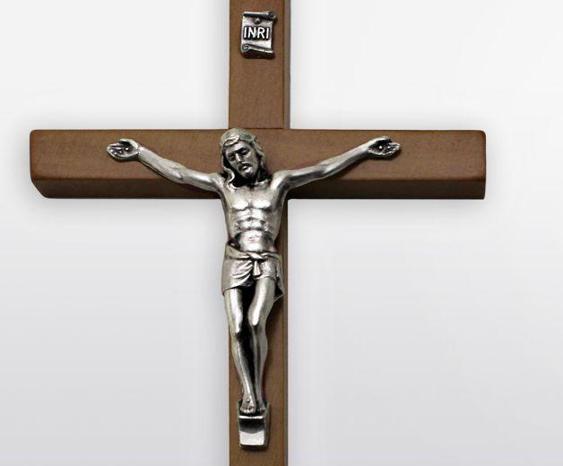 croix crucifix de j sus en bois 13cm christ en or. Black Bedroom Furniture Sets. Home Design Ideas