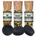 3 X Flacon d'encens + charbons (Dévotion, Melchior et Vatican)