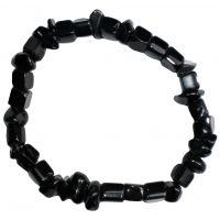 Bracelet Onyx / Cristal de quartz (stabilité, protection)
