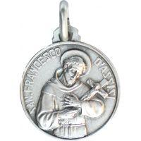 MédailleSaint François d'Assise argent 18mm