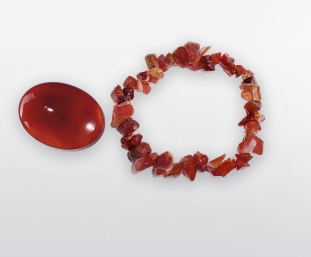 Bracelet & Pierre en minéral de Cornaline - Pour l'harmonie