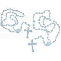 Lot: 2 X Chapelets chrétiens phosphorescents - Perles pour rosaire
