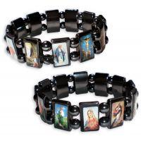 Lot de 2 bracelets des saints - Pierres naturelles d'hématites