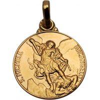 Médaille Saint Christophe de Lycie plaqué or 14mm