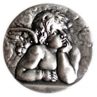 Aimant ange gardien 25mm argenté
