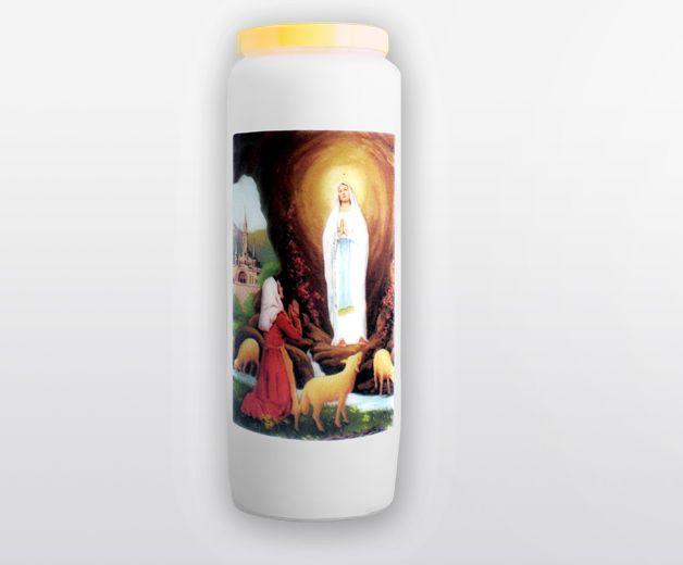 Bougie neuvaine à Notre-Dame de Lourdes, l'Immaculée Conception