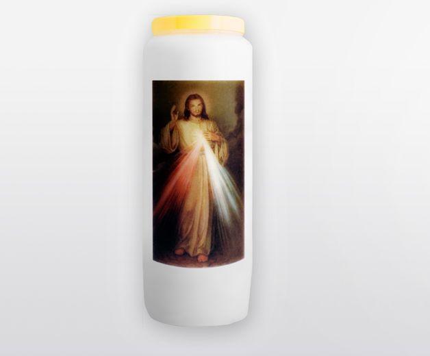 Bougie neuvaine à la Miséricorde Divine - Le Christ miséricordieux