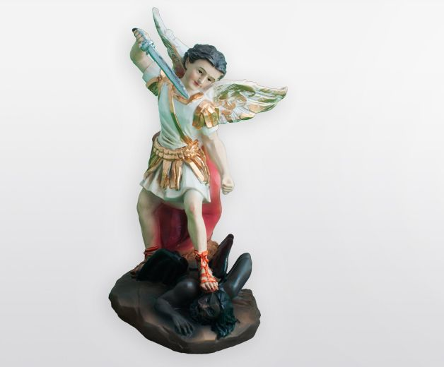 Statue Saint Michel l'archange 18cm