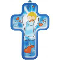 Croix ludique et colorée - Petit Ange avec coeur