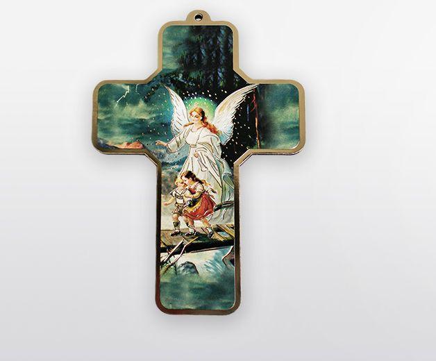 Croix apaisante avec ange protecteur