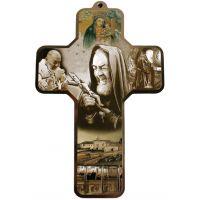 Croix / Crucifix à Padre Pio - Dessin d'un homme de compassion