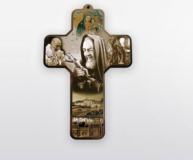 Croix illustrée à la vie de Padre Pio