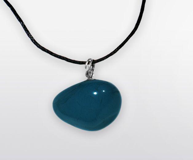 Pendentif quartz Calcédoine (confiance, apaisement)