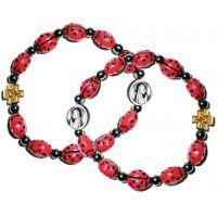 Lot de 2 bracelets coccinelles porte bonheur