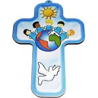 La croix murale catholique ludique et colorée