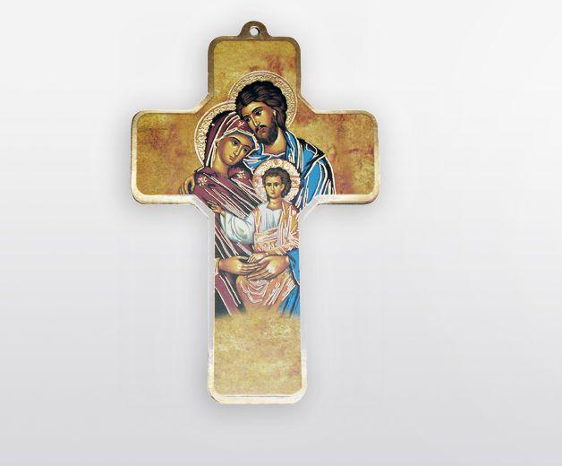 Le crucifix Sainte Famille Sainte Trinité : la croix chrétienne pour la prière commune