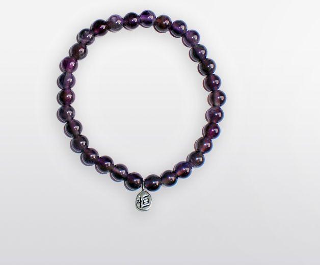Bracelet perle d'Améthyste - Pierre de sagesse
