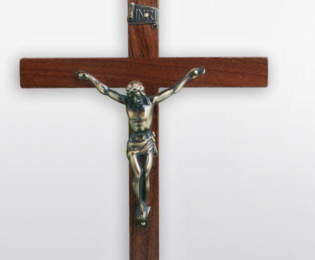 Crucifix de Jésus en bois 23cm