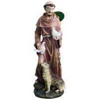Statue de Saint François d'Assise 20cm