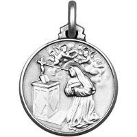 Médaille Sainte Rita argent 10mm