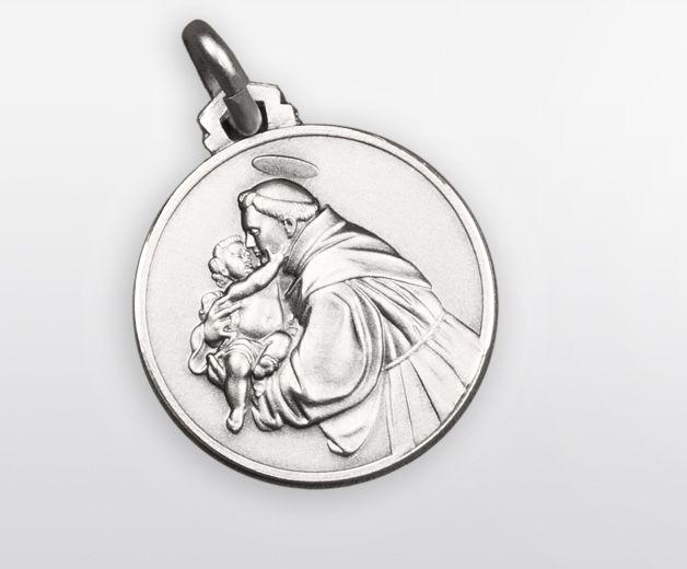 Médaille Saint-Antoine argent 18mm