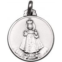 Médaille Enfant Jésus de Prague argent S925