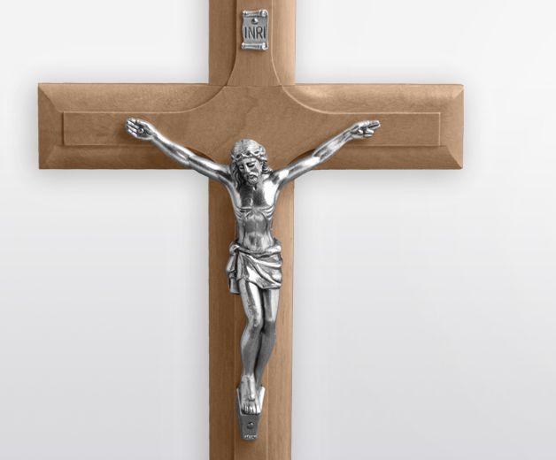 Crucifix du Christ en bois d'olivier 20x12cm