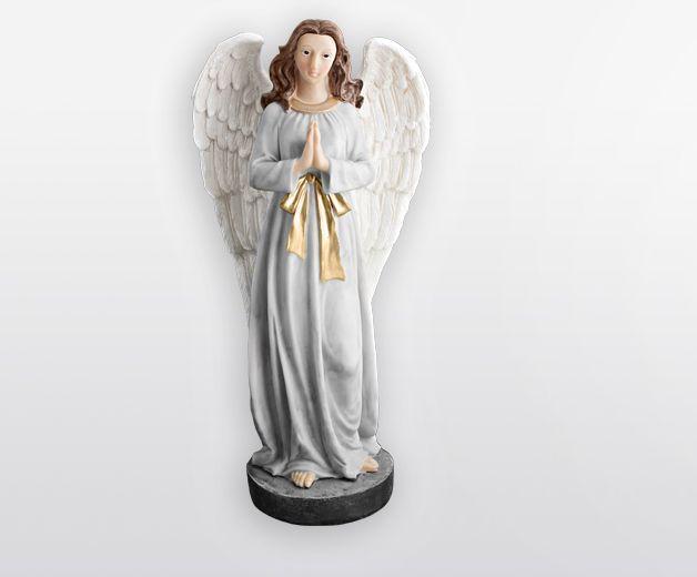 Statue ange gardien 31cm christ en or - Statue d ange pour exterieur ...