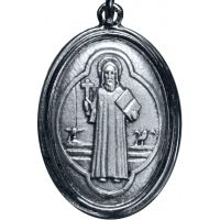 Pendentif médaille Saint Benoit en métal