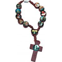 Dizainier bracelet des saints en bois