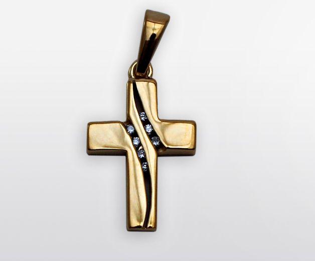 Croix en or pour femme 18c